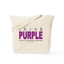 Think Purple Fibromyalgia Tote Bag