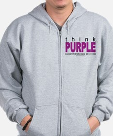 Think Purple Fibromyalgia Zip Hoodie