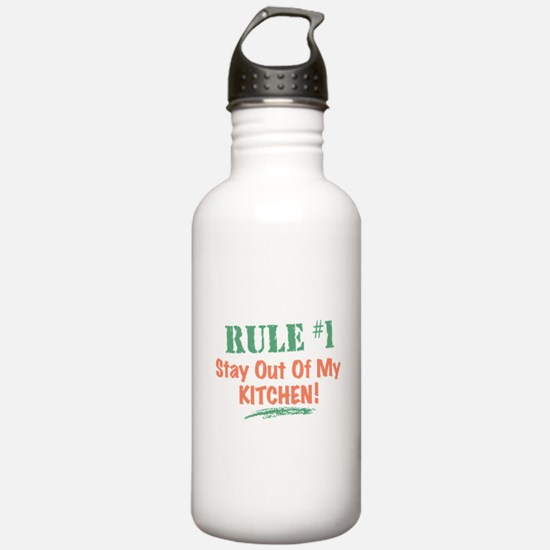 Kitchen Cook Rules Water Bottle