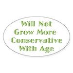 Will Not Oval Sticker