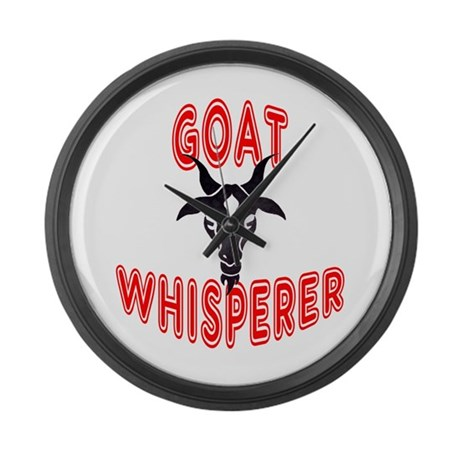 Goat Whisperer Large Wall Clock