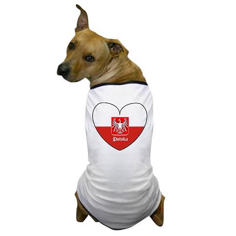 Polska / Polish Flag Dog T-Shirt