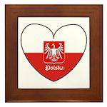 Polska / Polish Flag Framed Tile