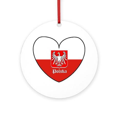 Polska / Polish Flag Ornament (Round)