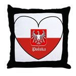 Polska / Polish Flag Throw Pillow