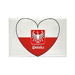 Polska / Polish Flag Rectangle Magnet (10 pack)