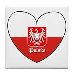 Polska / Polish Flag Tile Coaster