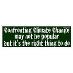 Confronting Climate Change Bumper Sticker