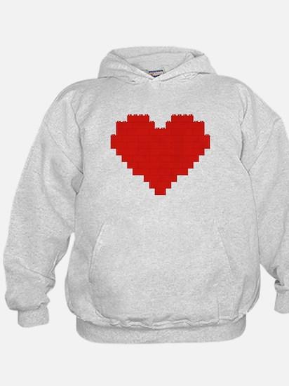 I heart building blocks Hoodie