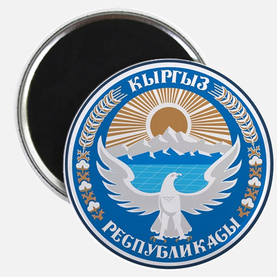"""Kyrgyzstan Coat of Arms 2.25"""" Magnet (10 pack)"""