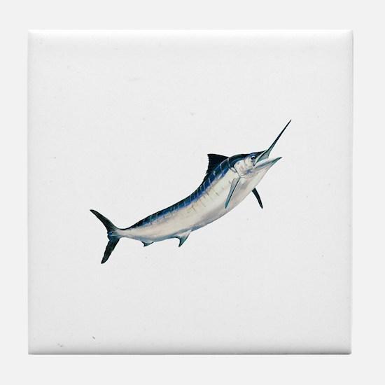 Striped Marlin (untitled) Tile Coaster
