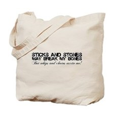 Funny Sticks and stones Tote Bag