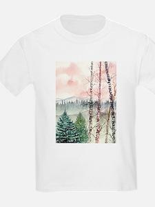 birch trees landscape art pri T-Shirt