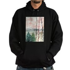 birch trees landscape art pri Hoodie