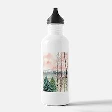 birch trees landscape art pri Water Bottle