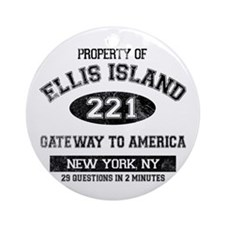 Ellis Island Ornament (Round)
