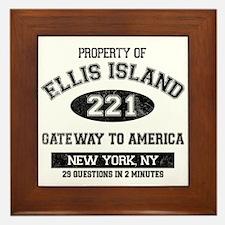Ellis Island Framed Tile