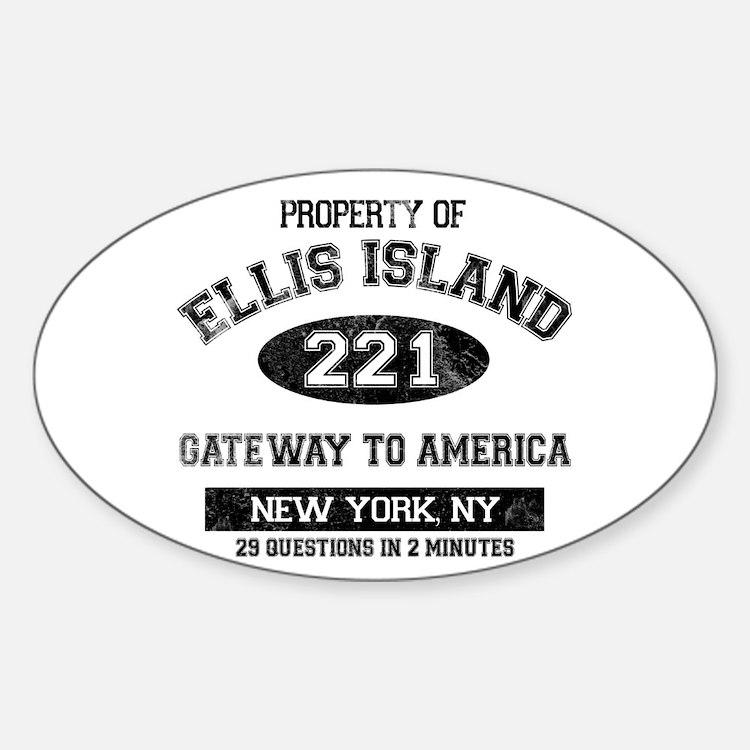Ellis Island Sticker (Oval)