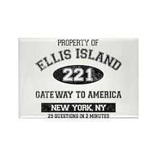 Ellis Island Rectangle Magnet