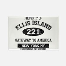 Ellis Island Rectangle Magnet