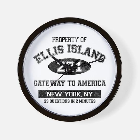 Ellis Island Wall Clock
