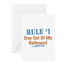 Rule #1 Bathroom Greeting Cards (Pk of 10)