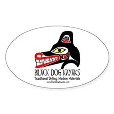 Black Dog Totem Oval Decal