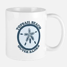 Topsail Beach - Sand Dollar Design Mug