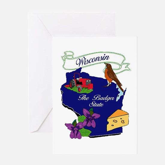 Wisconsin state Greeting Card
