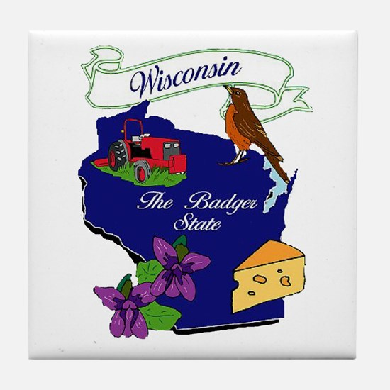 Wisconsin state Tile Coaster