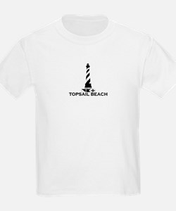 Topsail Beach NC - Lighthouse Design T-Shirt