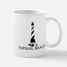 Topsail Beach NC - Lighthouse Design Mug