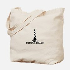 Topsail Beach NC - Lighthouse Design Tote Bag