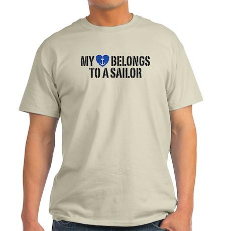My Heart Belongs To A Sailor Light T-Shirt