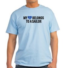 My Heart Belongs To A Sailor T-Shirt