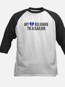 My Heart Belongs To A Sailor Kids Baseball Jersey