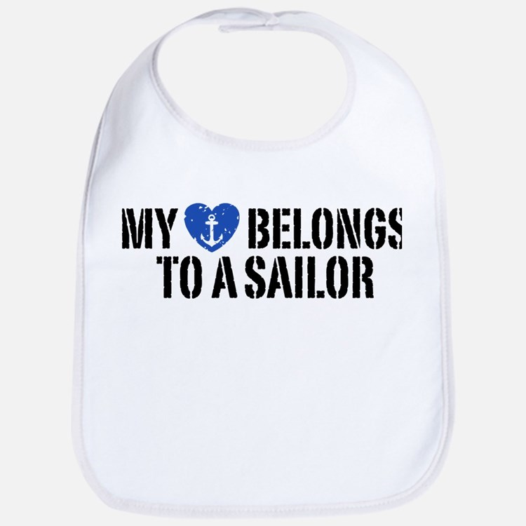 My Heart Belongs To A Sailor Bib