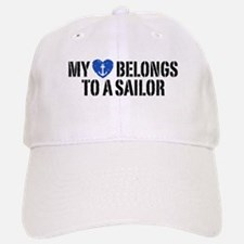 My Heart Belongs To A Sailor Baseball Baseball Cap