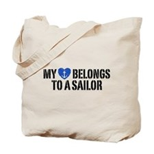 My Heart Belongs To A Sailor Tote Bag