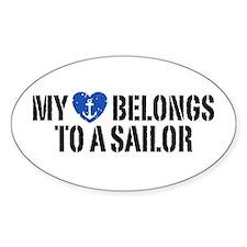 My Heart Belongs To A Sailor Decal