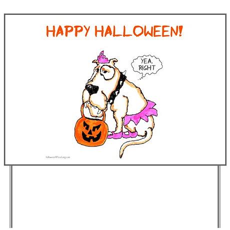 Halloween Dog Yard Sign
