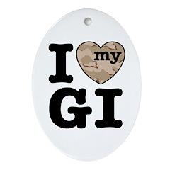I Love My GI Ornament (Oval)
