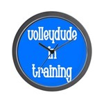 VolleyDude/Chick in Training Wall Clock