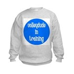 VolleyDude/Chick in Training Kids Sweatshirt