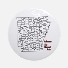 AR County Map Ornament (Round)