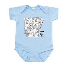 AR County Map Infant Bodysuit