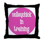 VolleyDude/Chick in Training Throw Pillow