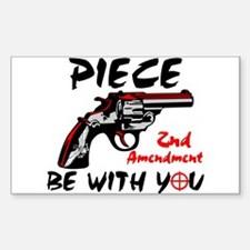 """Piece Be With You!"" Sticker (Rectangle)"