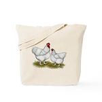 Orpington White Chickens Tote Bag