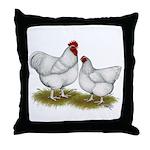 Orpington White Chickens Throw Pillow